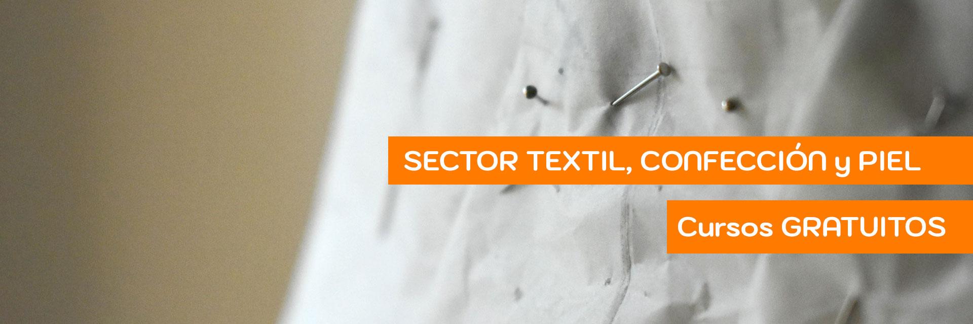 Cursos gratuitos sector textil, confección y piel